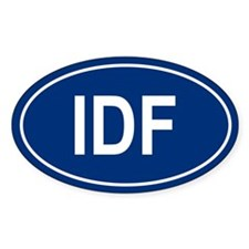 IDF Oval Decal