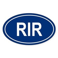 RIR Oval Bumper Stickers
