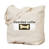 Bearded Collie Dog Bone Tote Bag