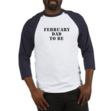 February Dad To Be Baseball Jersey