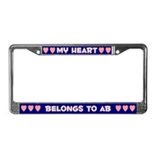 My Heart: Ab (#008) License Plate Frame