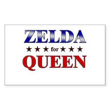 ZELDA for queen Rectangle Decal