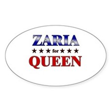 ZARIA for queen Oval Decal