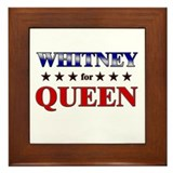 WHITNEY for queen Framed Tile