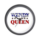 WENDY for queen Wall Clock