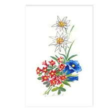Alpine Flowers 2 Postcards (Package of 8)