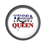 TESSA for queen Wall Clock