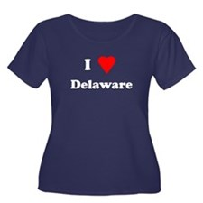 I Love Deleware Women's Plus Size Scoop Neck Dark