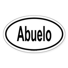 ABUELO Oval Decal