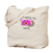 Call Mimi with Pink Phone Tote Bag