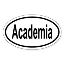 ACADEMIA Oval Decal