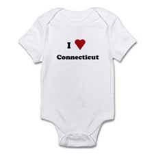 I Love Connecticut Infant Bodysuit