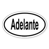 ADELANTE Oval Decal