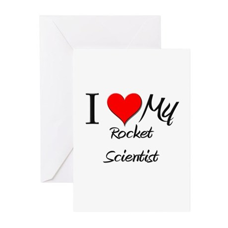I Heart My Rocket Scientist Greeting Cards (Pk of