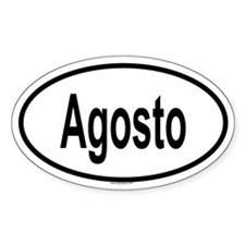 AGOSTO Oval Decal