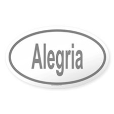 ALEGRIA Oval Decal