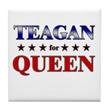 TEAGAN for queen Tile Coaster
