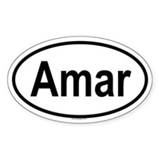 AMAR Oval Decal