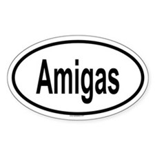 AMIGAS Oval Decal