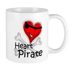 Valentine Heart Pirate Mug