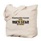 Kndrgrtn Teacher Rock Star Tote Bag