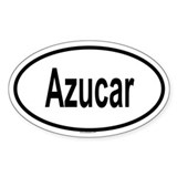 AZUCAR Oval Decal