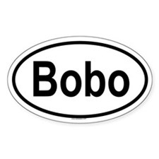 BOBO Oval Decal