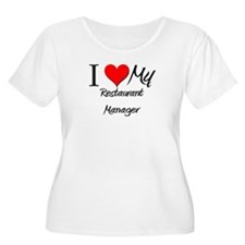 I Heart My Restaurant Manager T-Shirt