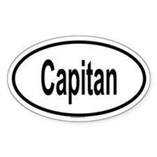 CAPITAN Oval Decal
