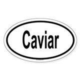 CAVIAR Oval Decal