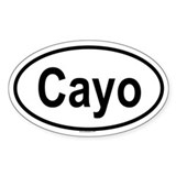 CAYO Oval Decal