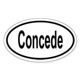 CONCEDE Oval Decal