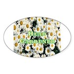 Head Gardener Oval Sticker