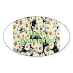 Head Gardener Oval Sticker