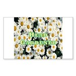 Head Gardener Rectangle Sticker