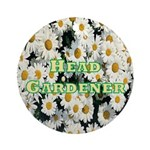 Head Gardener Ornament (Round)