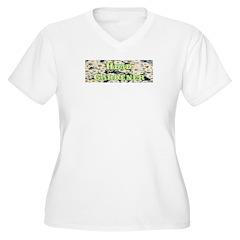 Head Gardener Women's Plus Size V-Neck T-Shirt