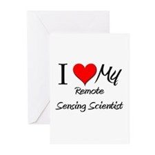 I Heart My Remote Sensing Scientist Greeting Cards