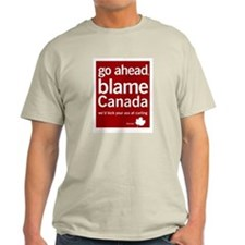 Blame Canada Ash Grey T-Shirt