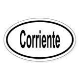 CORRIENTE Oval Decal