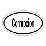 CORRUPCION Oval Decal