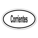CORRIENTES Oval Decal