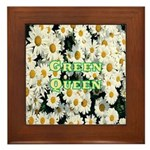 Green Queen Framed Tile
