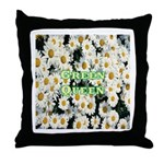 Green Queen Throw Pillow