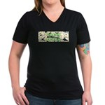 Green Queen Women's V-Neck Dark T-Shirt