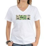 Green Queen Women's V-Neck T-Shirt