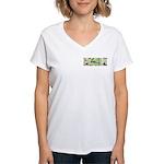 Green Queen Women's V-Neck T-Shirt