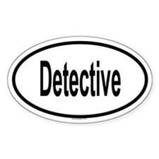 DETECTIVE Oval Decal
