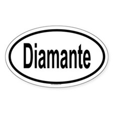 DIAMANTE Oval Decal