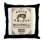 Tombstone Boot Hill Throw Pillow